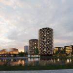 На перехресті Стрийської та Наукової збудують готель та офісний центр. Візуалізація